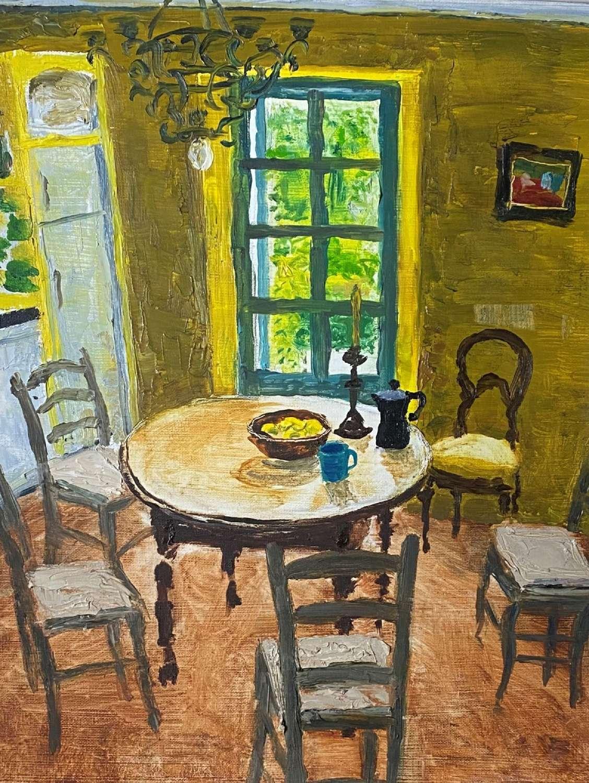 Alex Uxbridge. Yellow Provencal Kitchen.