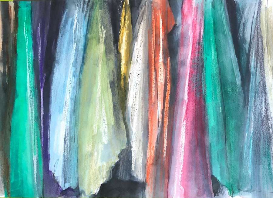 Trevor Newton. Coloured Scarves.