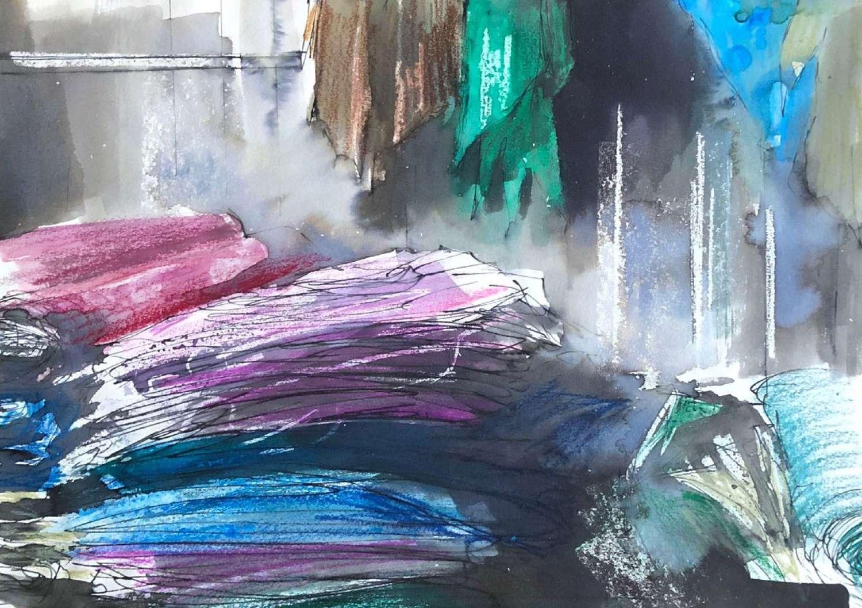 Trevor Newton. Coloured clothes.