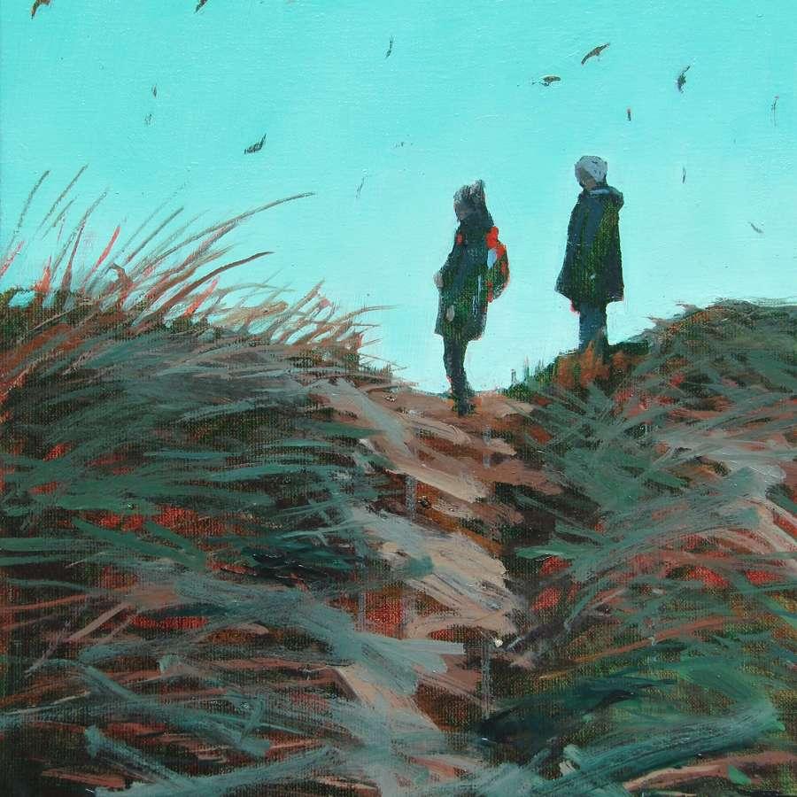 Joseph Davey. Muddy path with birds.