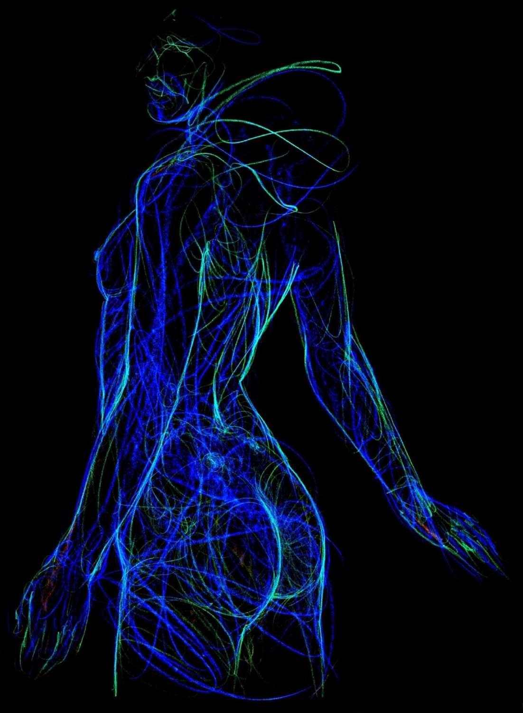 David Hensel. Blue Nude 2