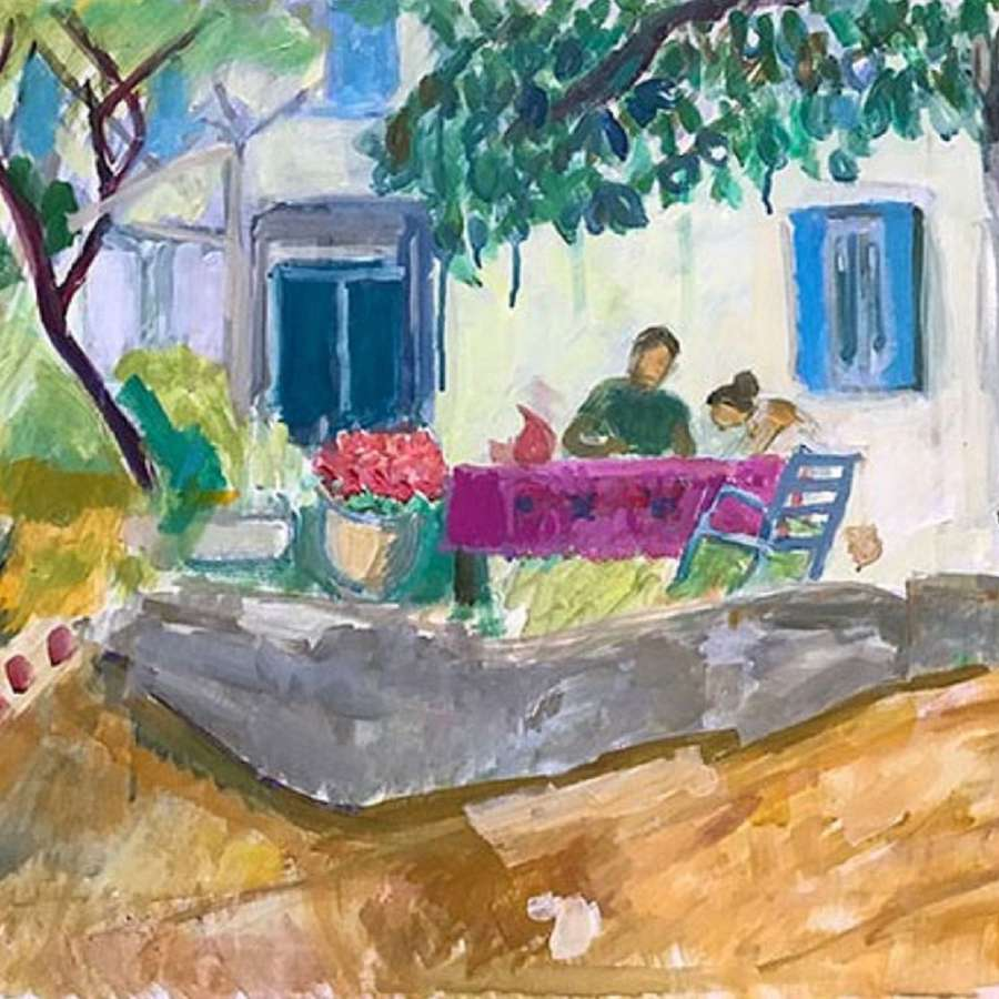 Antonia Ogilvie-Forbes. Painting together in France.
