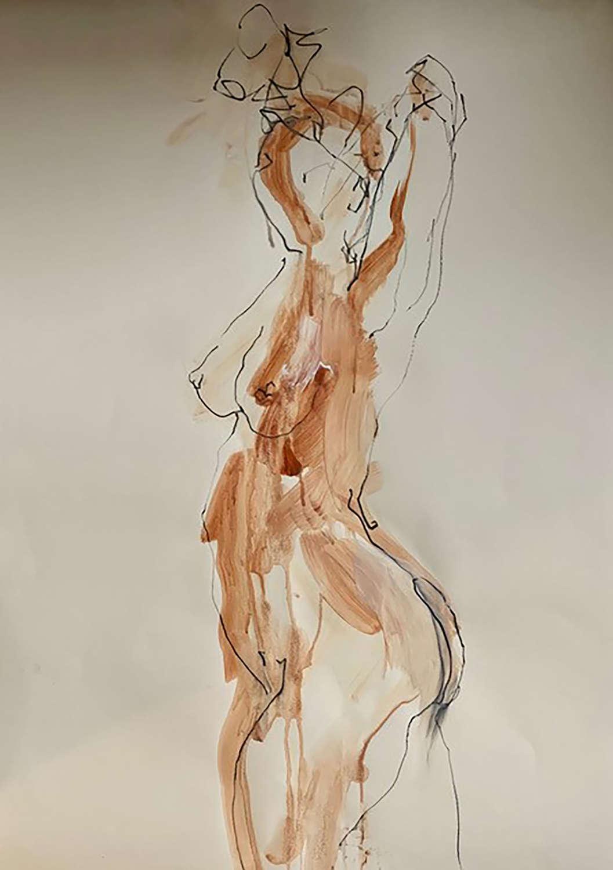 Judith Brenner. Sarita Stretching.