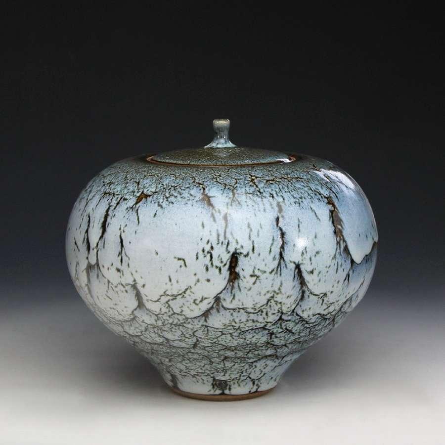 Peter Sparrey. Stoneware lidded jar.