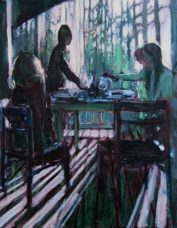 Joseph Davey. Dinner at Ann's.