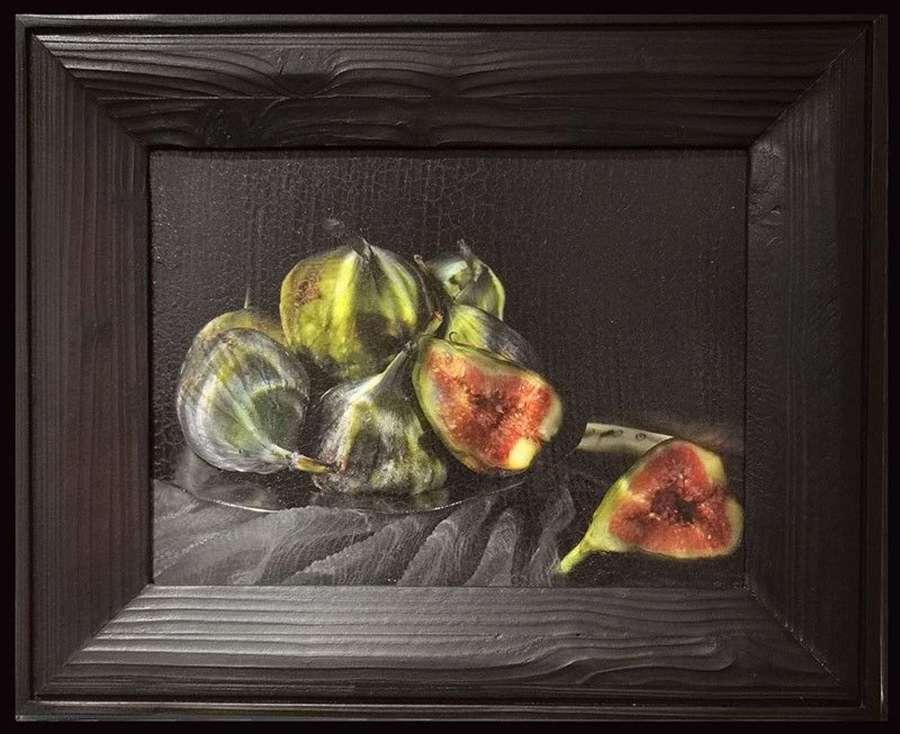 Alexander James.  Figs on Platter