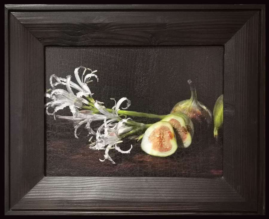 Alexander James.  'Figs and Flowers'