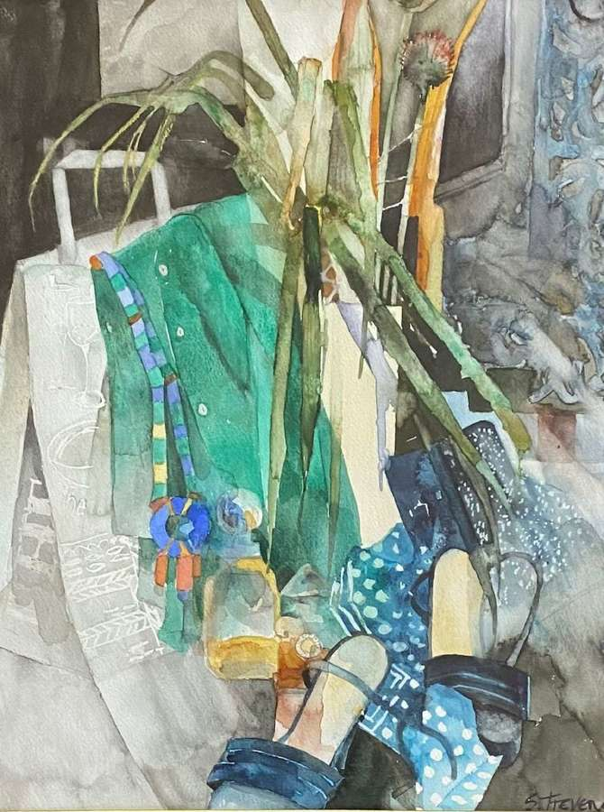 Shirley Trevena RI. 'Green Shirt and High Heels'.