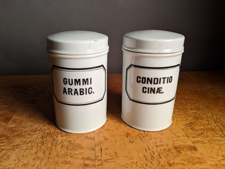 Circa 1870 A pair of Pharmacy Jars