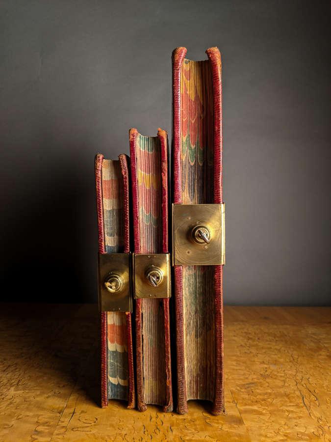 Circa 1900 Three Lockable Ledgers / Journal