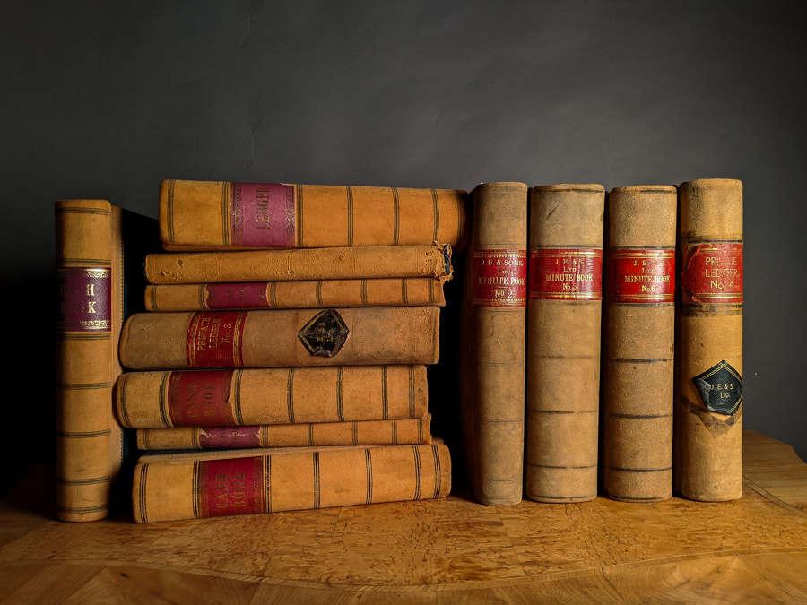 Circa 1890 Suede Ledgers