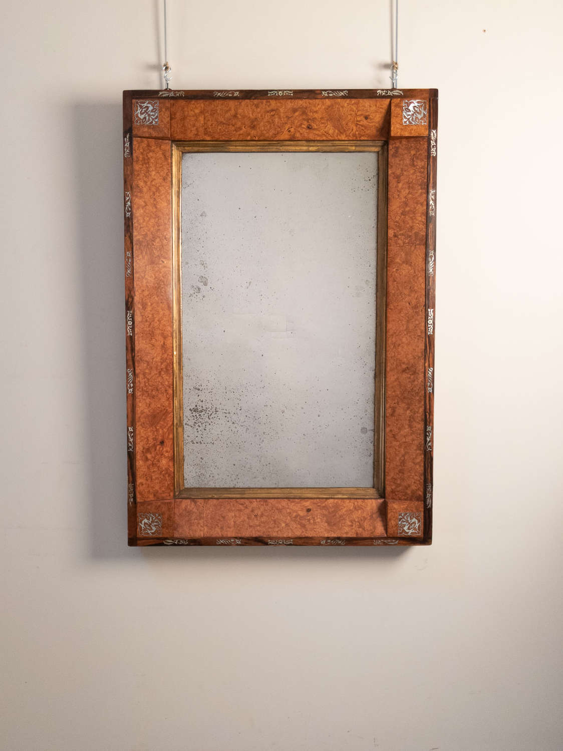 An early 19th Century French Inlaid mirror