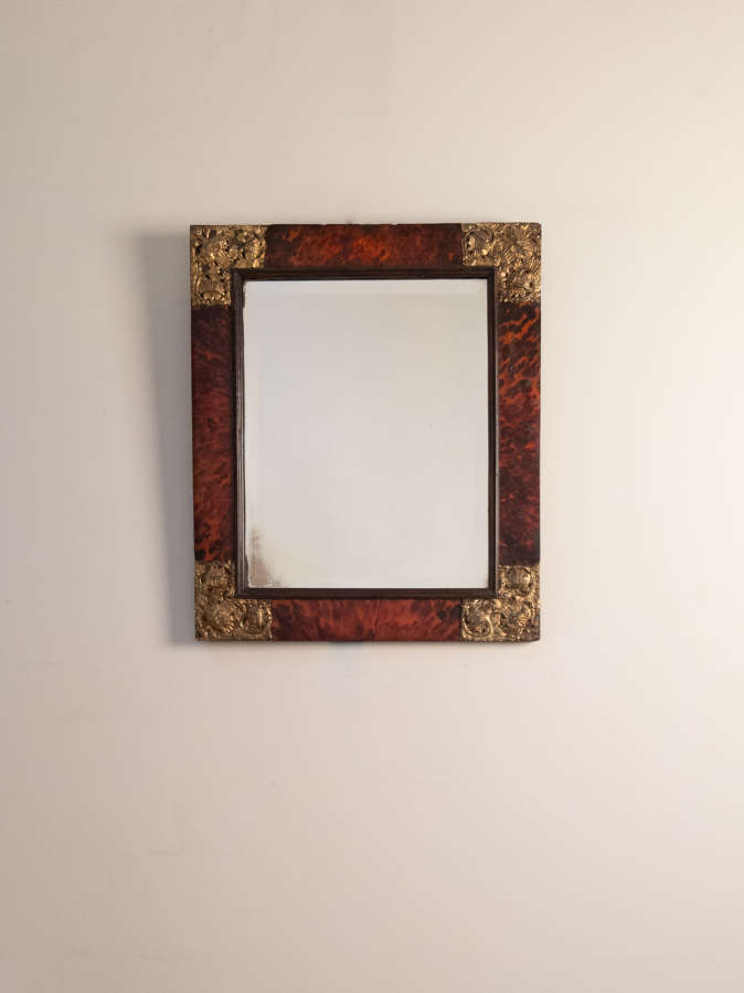 A 19th Century French Tortoise Shell Mirror