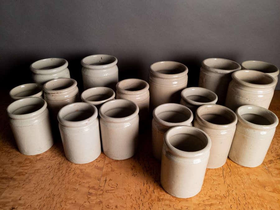 Circa 1900 Stoneware pots