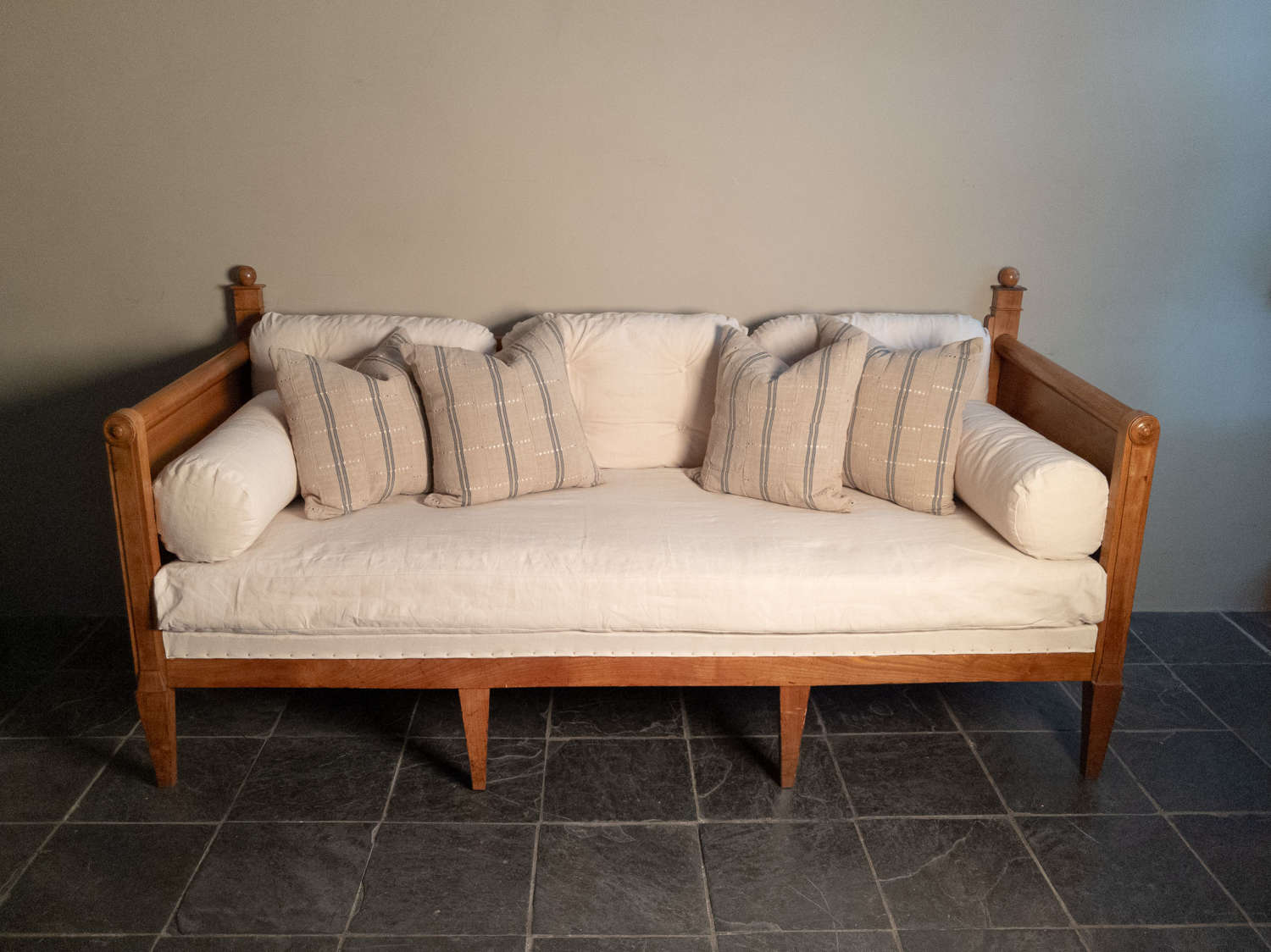 An Early 19th Century French Fruitwood Daybed Sofa