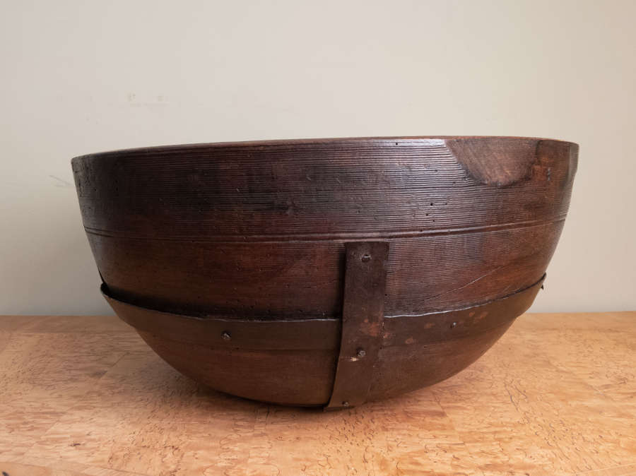 A 19th Century HUGE Iron Strap bowl