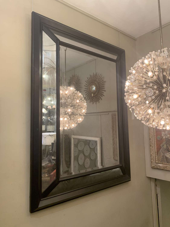 19th Century Ebonised French Cushion Mirror