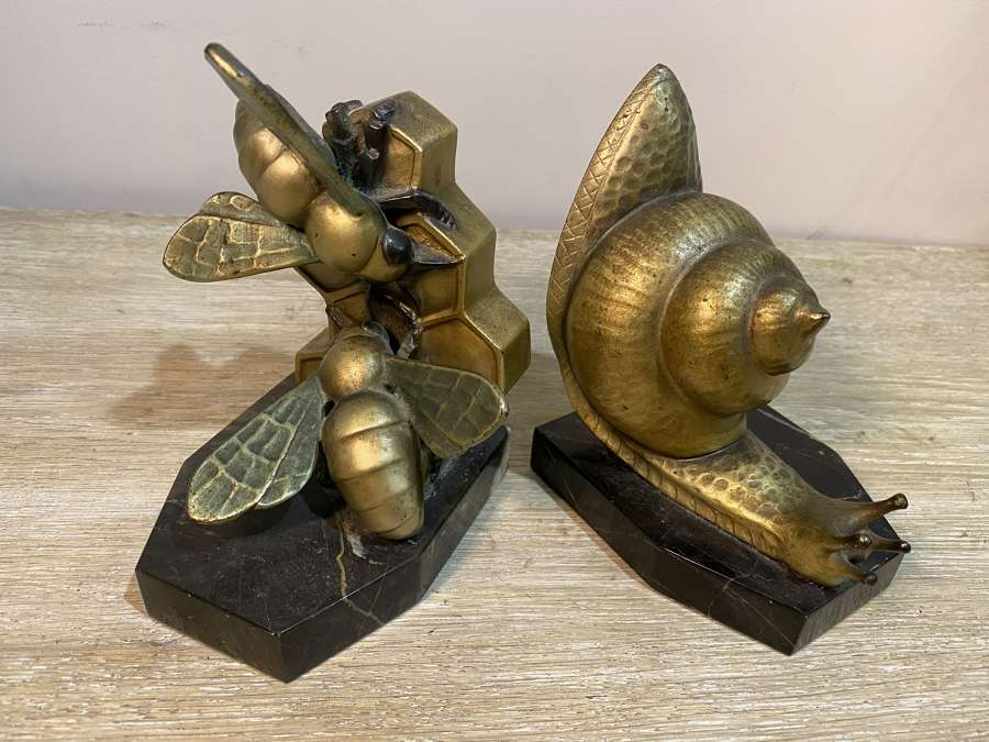C1920 A pair of French Bronze Bookends