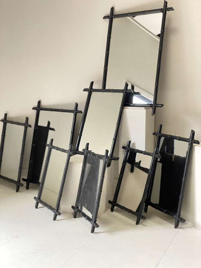 C1960 Faux Bamboo Mirrors - Sold Separately!