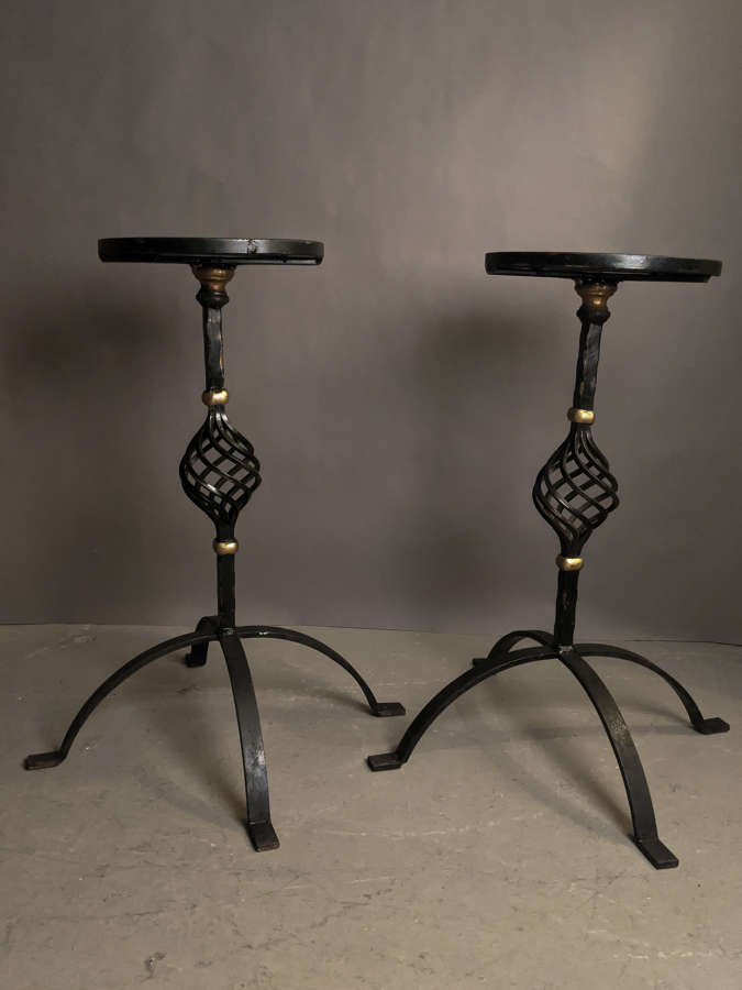 C1960 A Pair of Iron Martini Tables