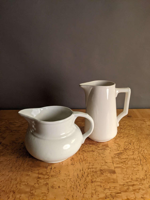 C1890 Creamware / Ironstone Jugs