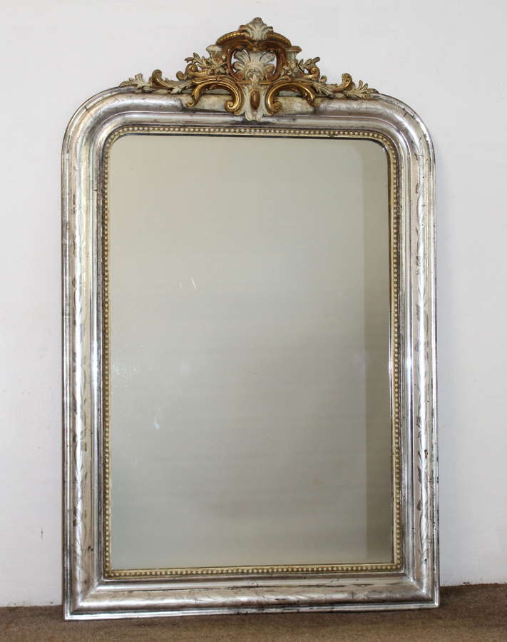 Silver and Painted Antique Mirrors