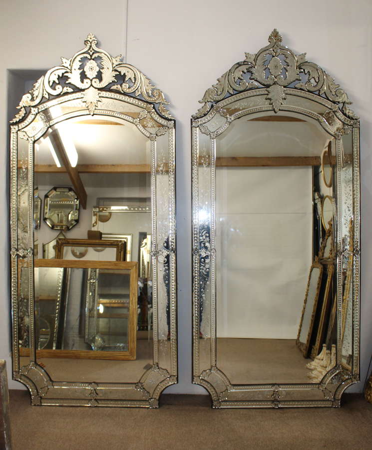 Magnificent pair of 19thC Venetian mirrors