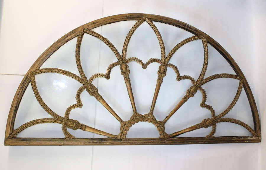 Decorative Regency period fan light