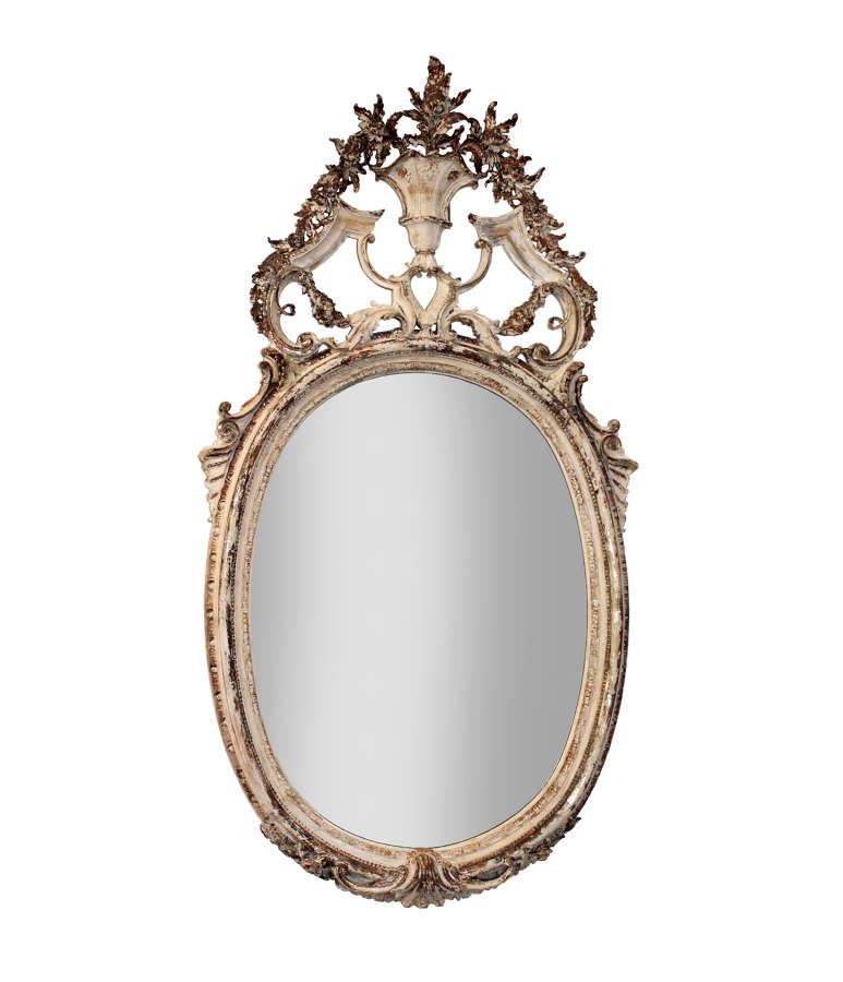 Spectacular large antique Spanish mirror