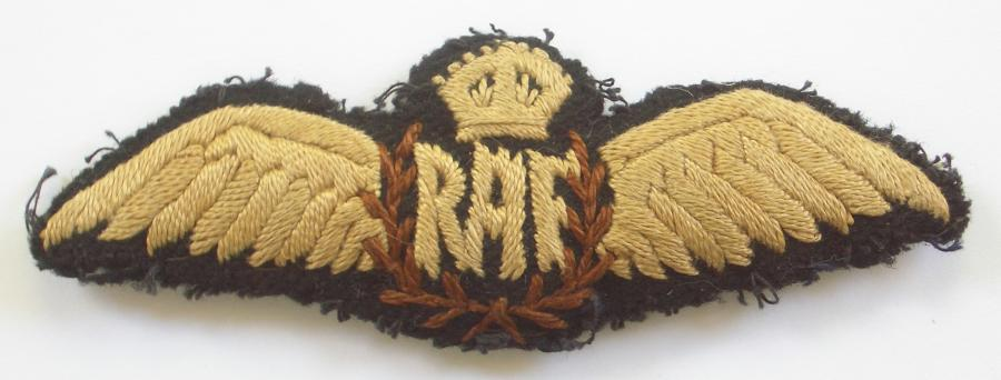 RAF inter war Pilot's Wing.Middle East/India