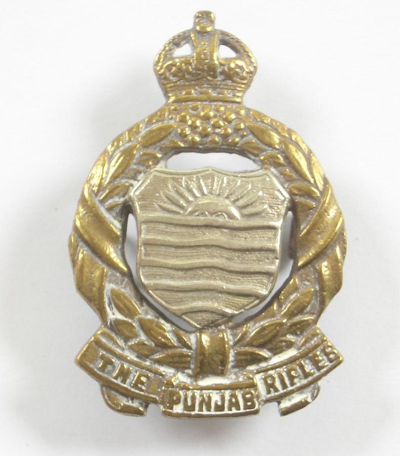 Indian Army 1st Punjab Volunteer Rifles AFI cap badge.