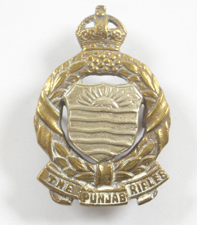 Indian Army 1st Punjab Volunteer Rifles AFI cap badge.