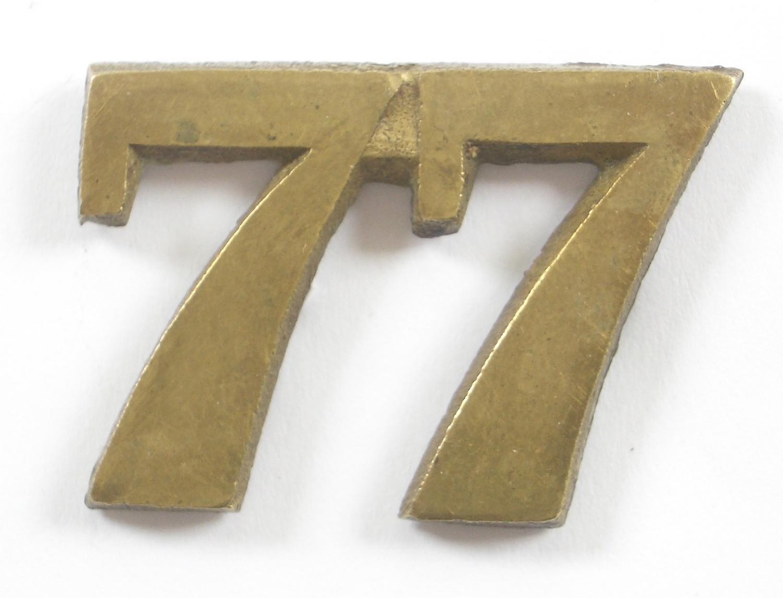 77th Foot Victorian pork pie hat numerals