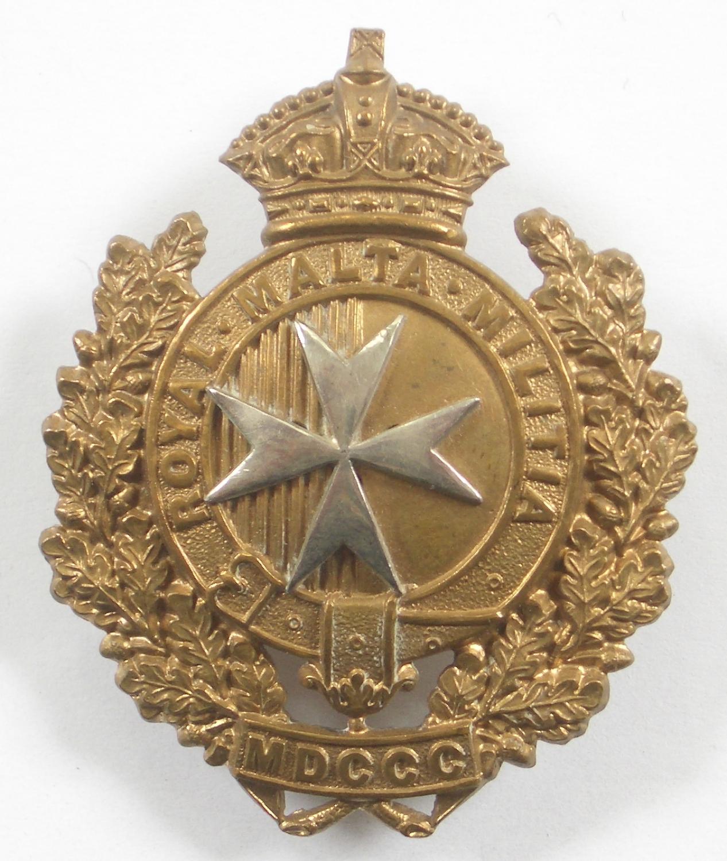 Royal Malta Militia Victorian cap badge