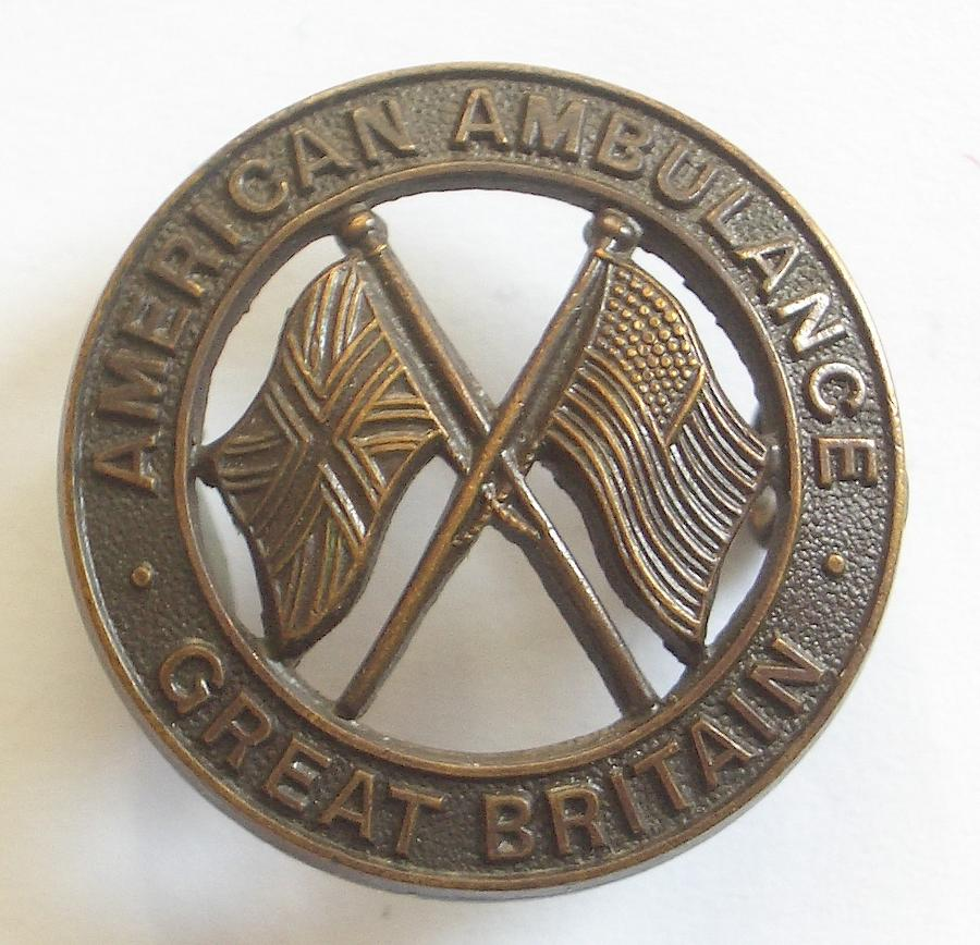 American Ambulance Great Britain badge