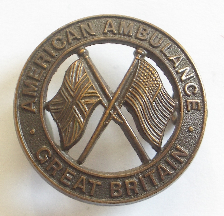 American Ambulance Great Britain badge