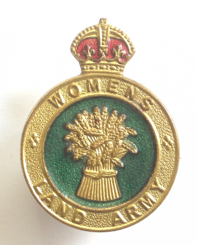 Womens Land Army WW2 cap / breast badge