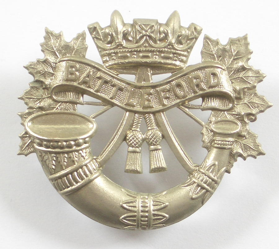 Canadian Battleford Light Infantry cap badge
