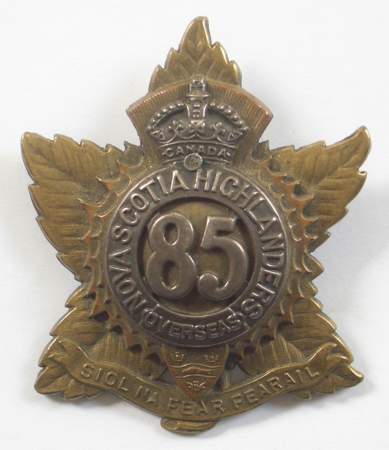 85th (Nova Scotia Hldrs) CEF Officer's badge