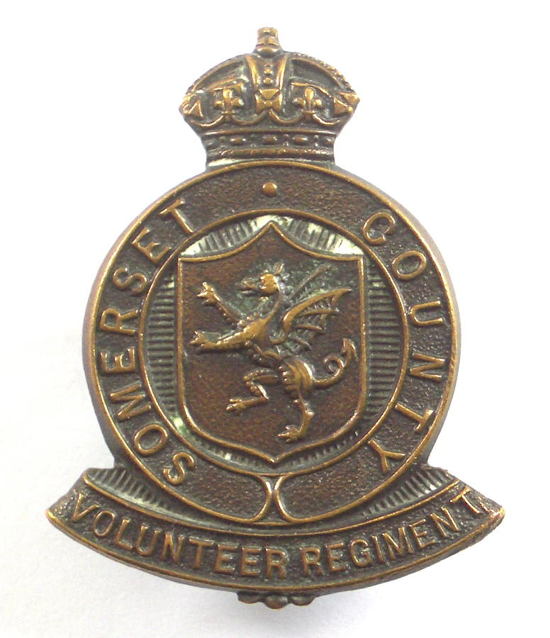 Somerset County WW1 VTC cap badge