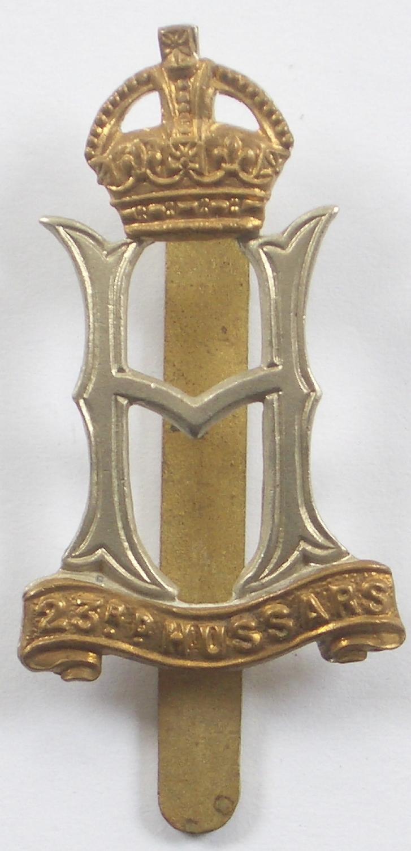 23rd Hussars WW2 cap badge