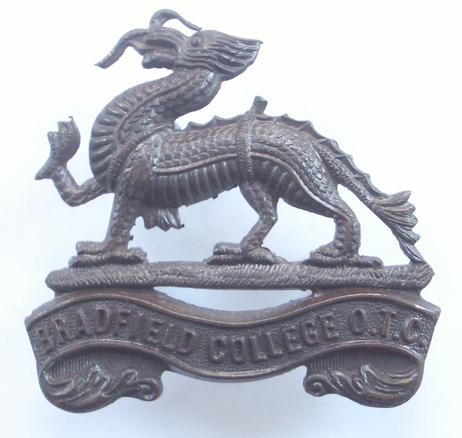 Bradfield College OTC bronze cap badge