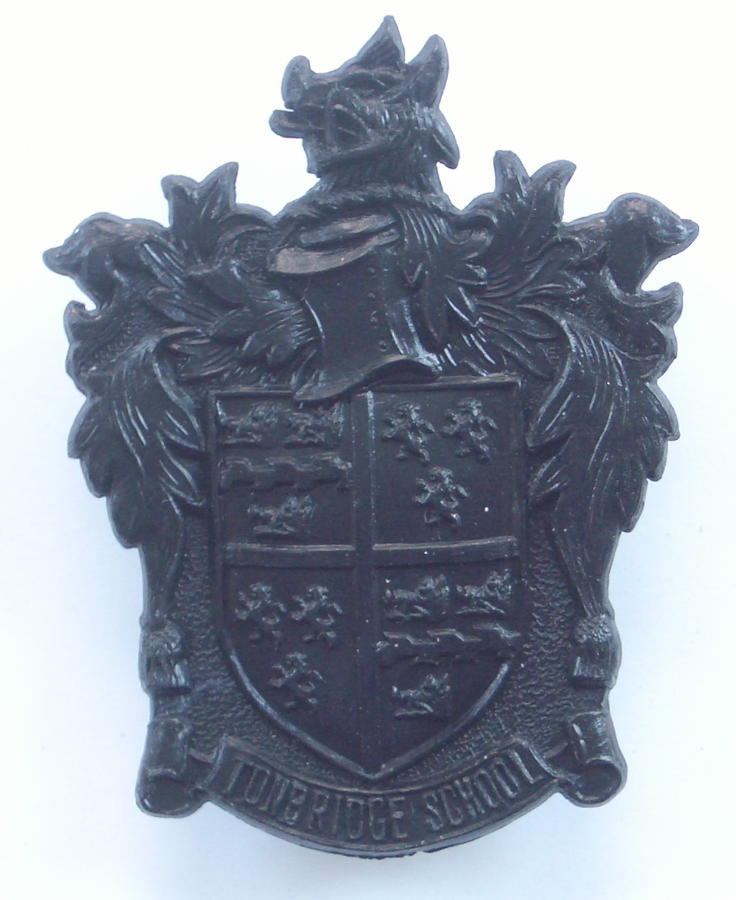 Tonbridge School OTC scarce plastic cap badge