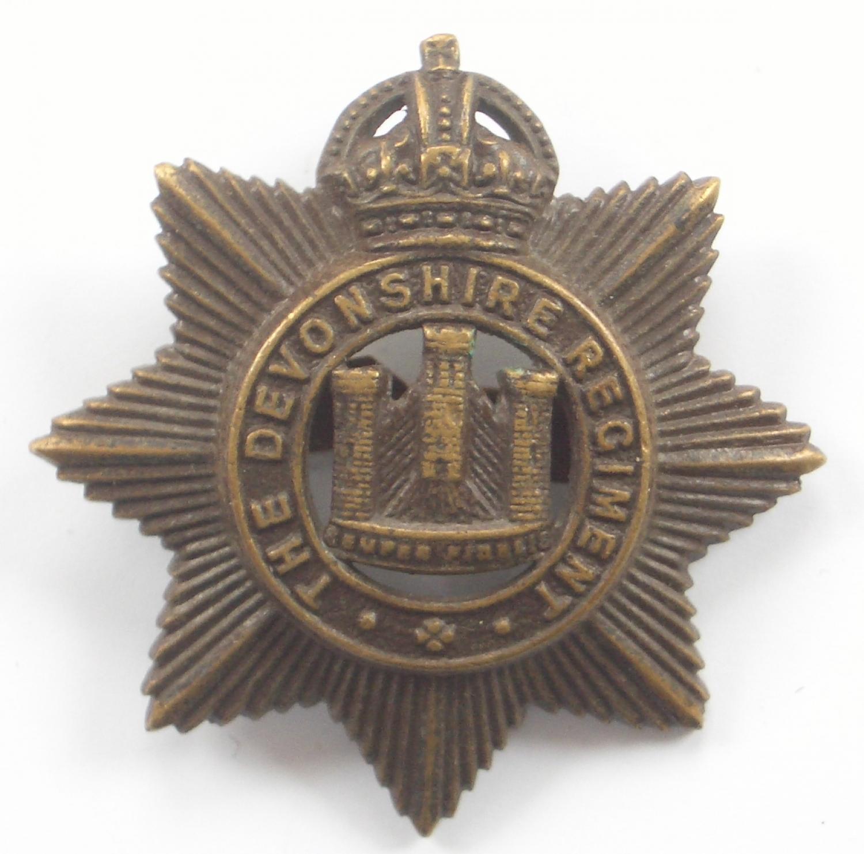 Devonshire Regiment WW1/WW2 OSD cap badge