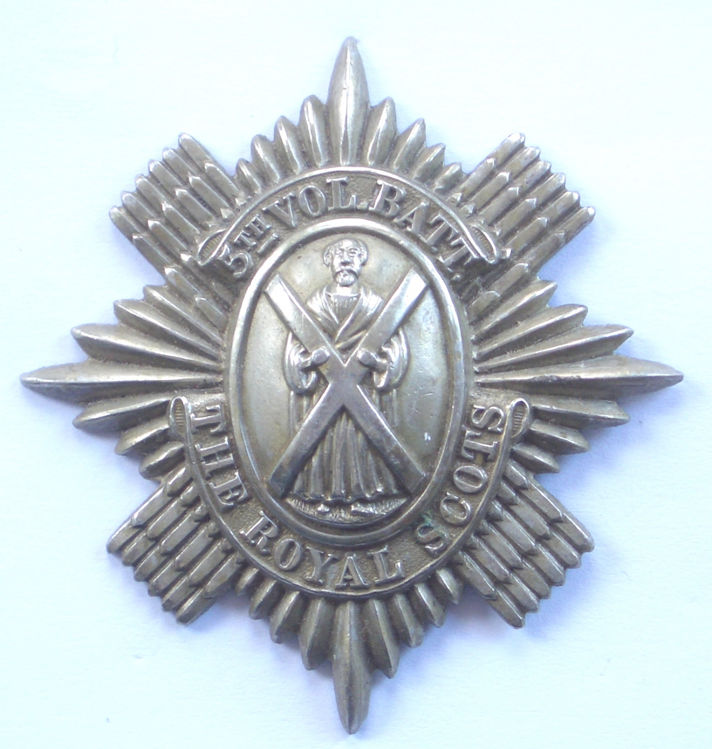 Scottish 5th VB Royal Scots OR's pre 1908 glengarry badge
