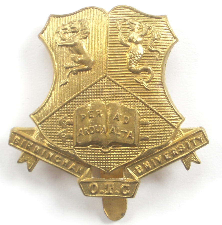 Birmingham University OTC cap badge