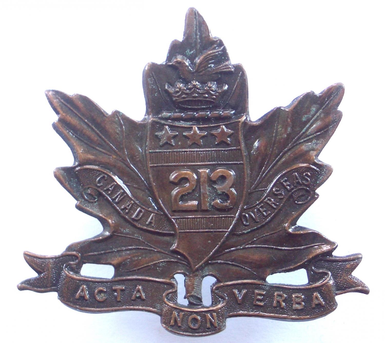 213th Toronto Americans Bn WW1 CEF badge