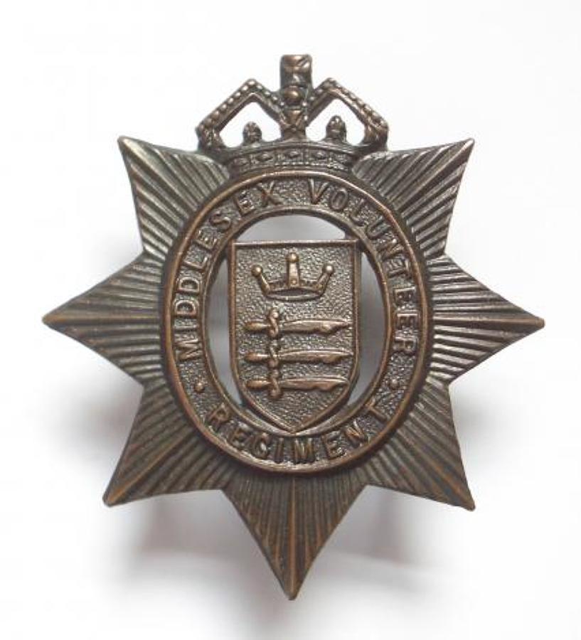 Middlesex Volunteer Regiment cap badge