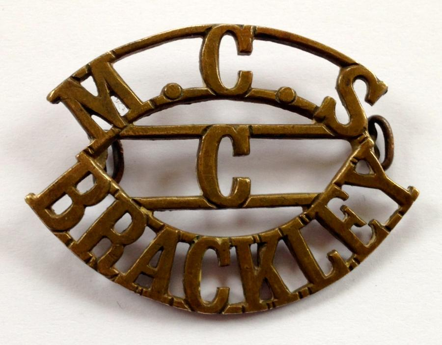 M.C.S. / C / BRACKLEY shoulder title