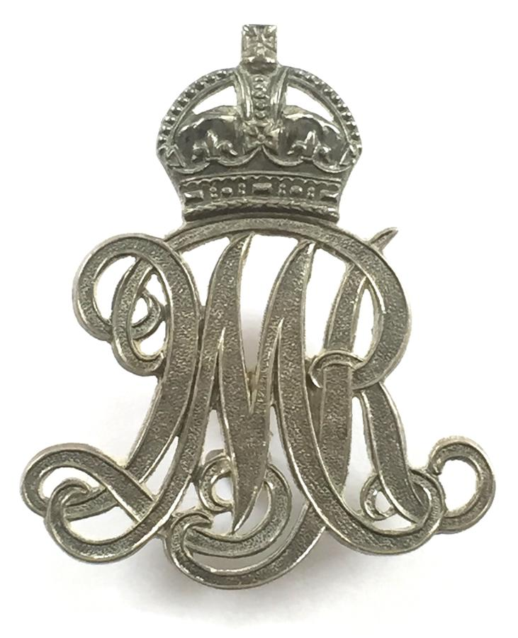 Surrey Yeomanry  1913 HM silver arm badge